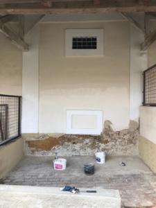 Stavební práce na staré usedlosti